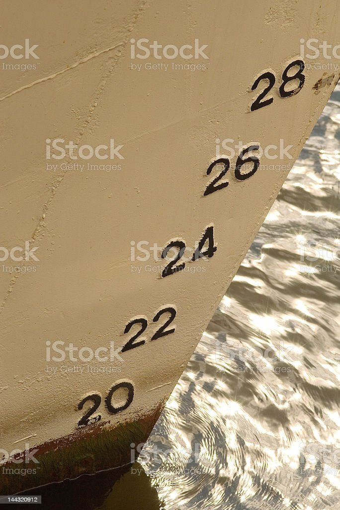 Water gauge royalty-free stock photo