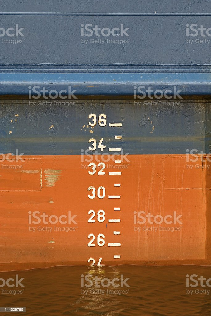 Water gauge stock photo