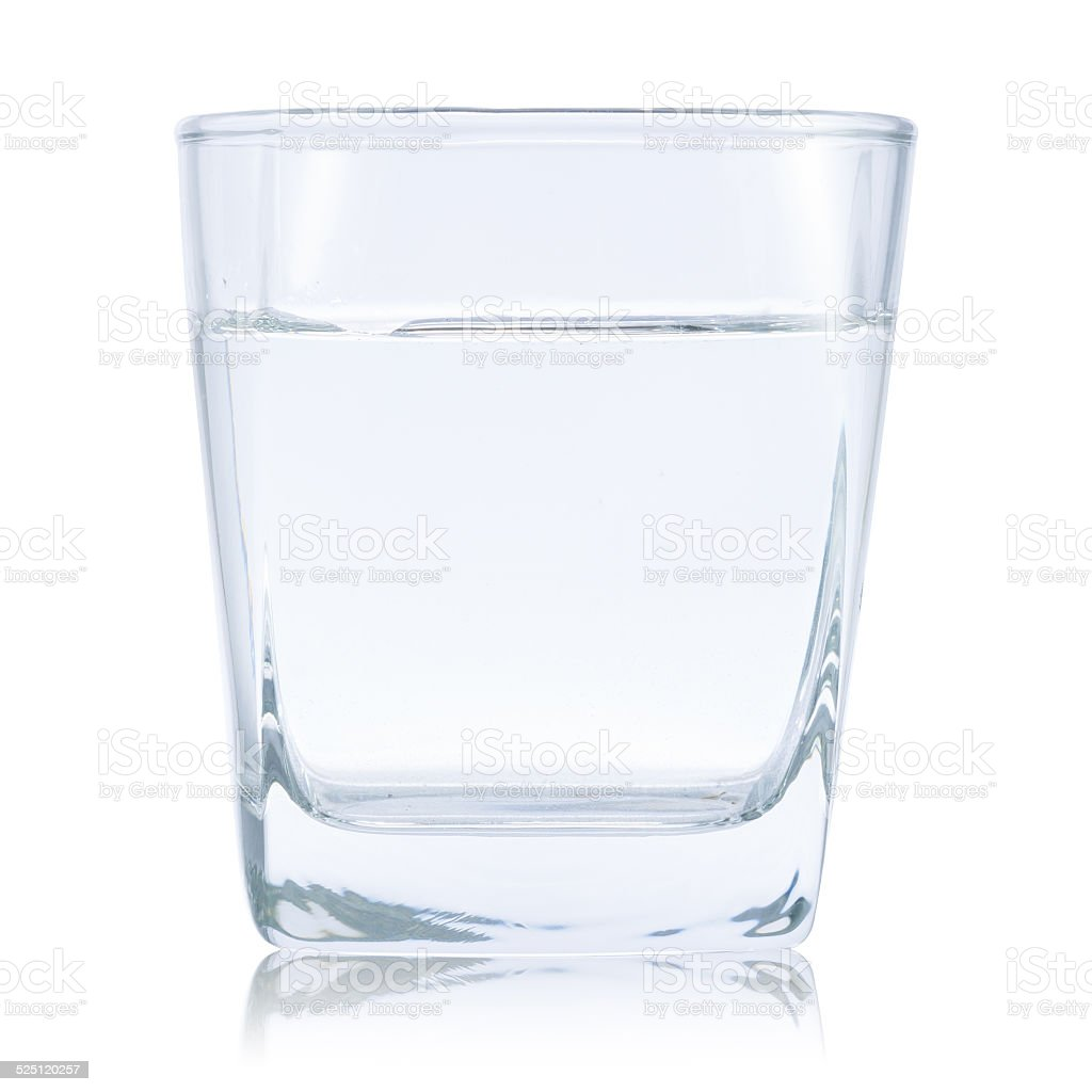 water glass for whiskey stock photo