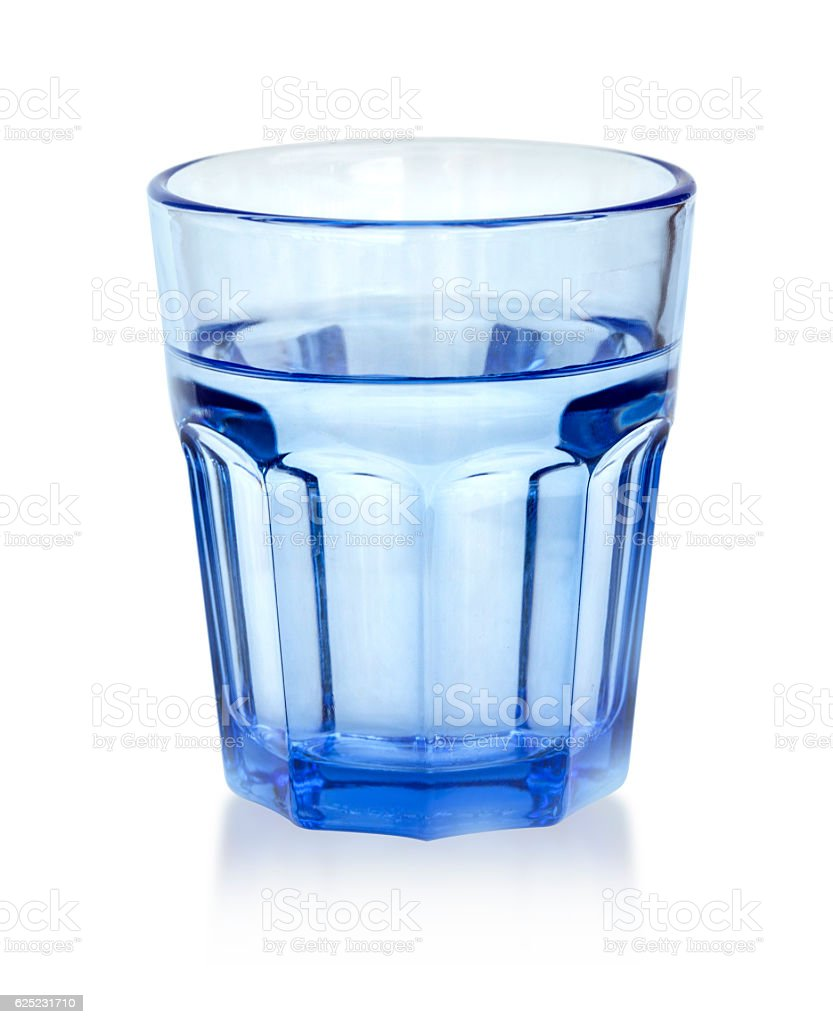 water glass isolated stock photo