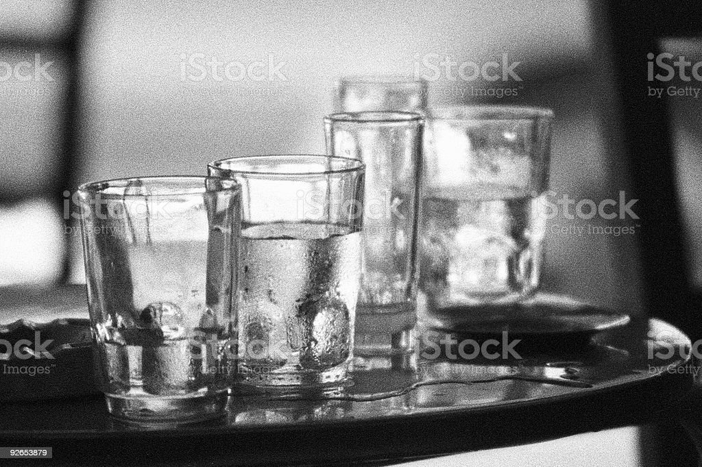 Water Glasses royalty-free stock photo