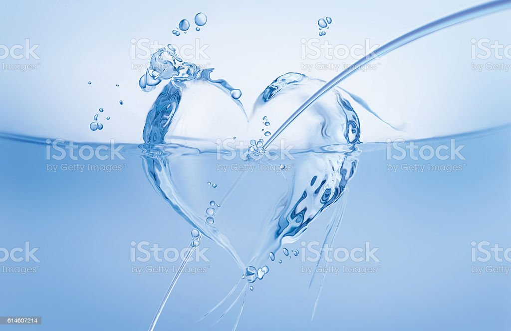 Water Heart with Arrow royalty-free stock photo