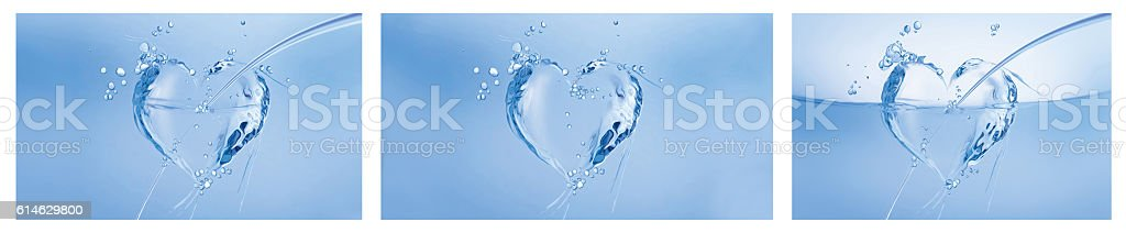 Water Hearts Collage royalty-free stock photo