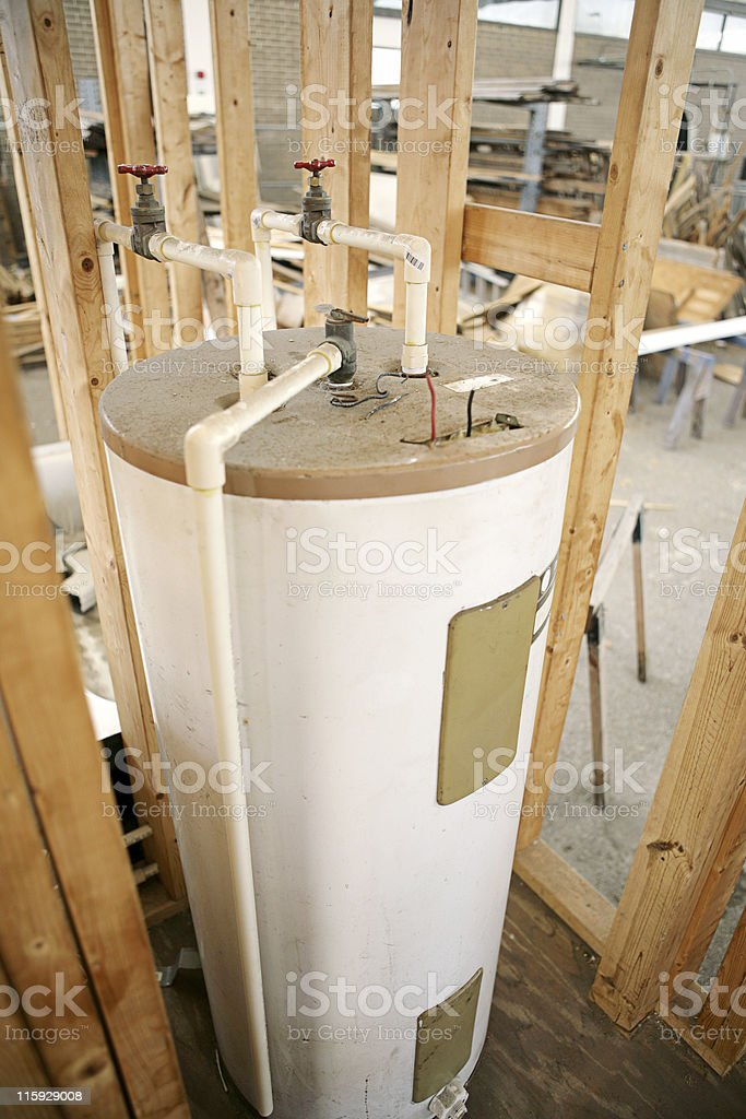 Water Heater Installed stock photo
