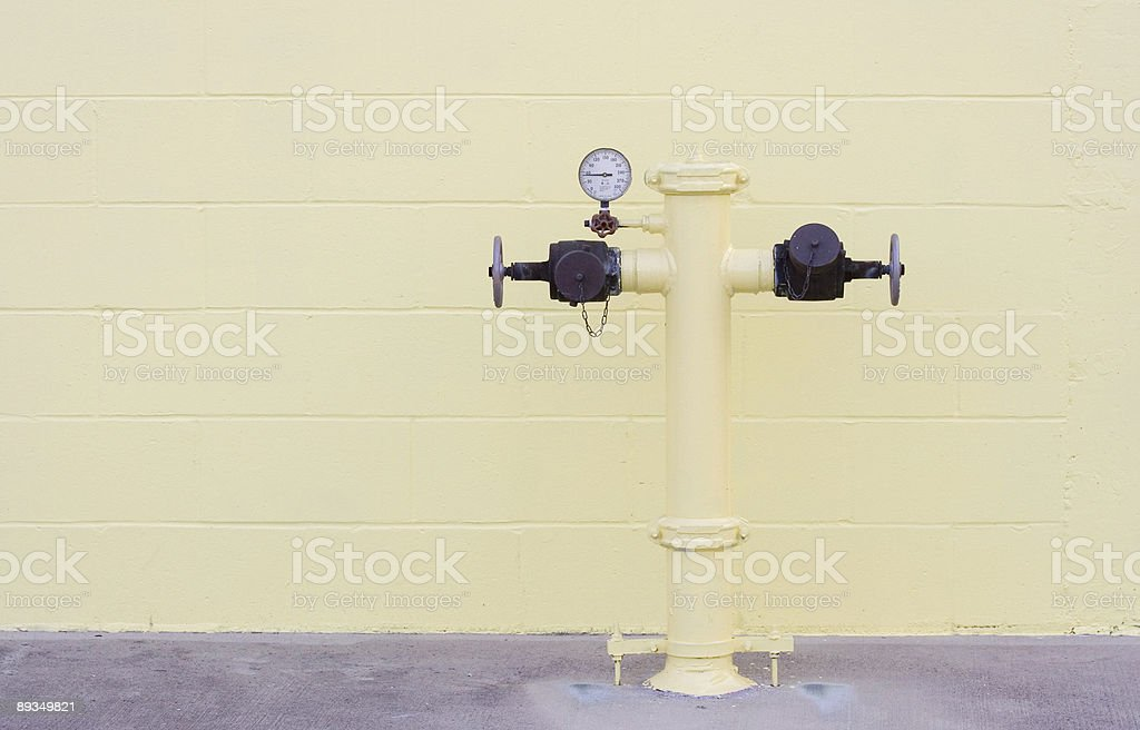 water hose hookup royalty-free stock photo