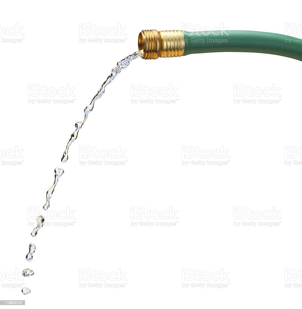 Water Hose (clipping path) royalty-free stock photo