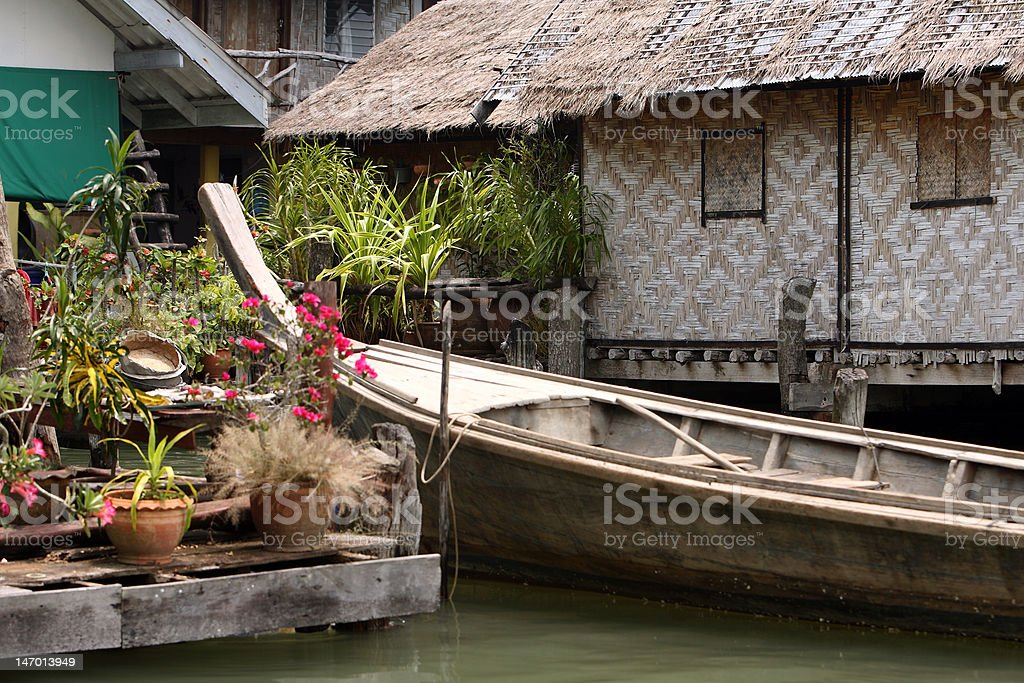 Water house,  Thailand royalty-free stock photo