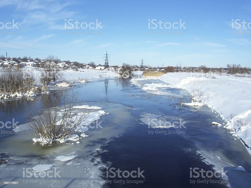 water ice winter snow cold white royalty-free stock photo