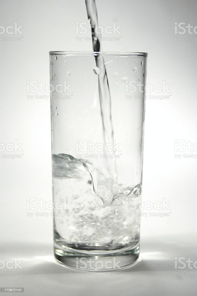 Water in a glass stock photo