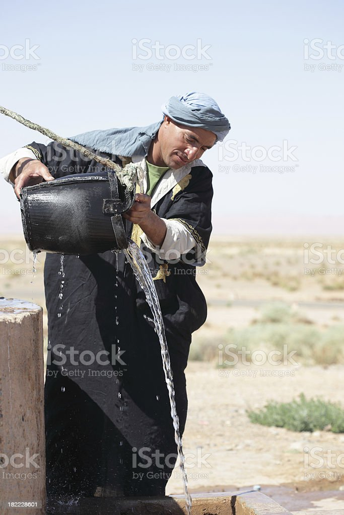 Water in Desert, Morocco royalty-free stock photo