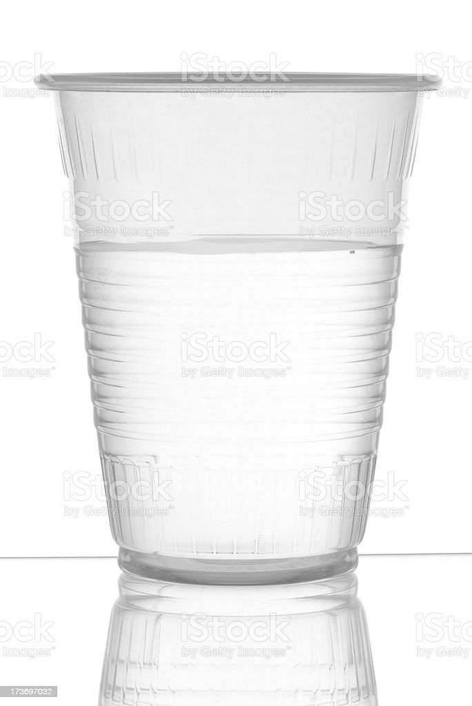 Water in plastic cup stock photo