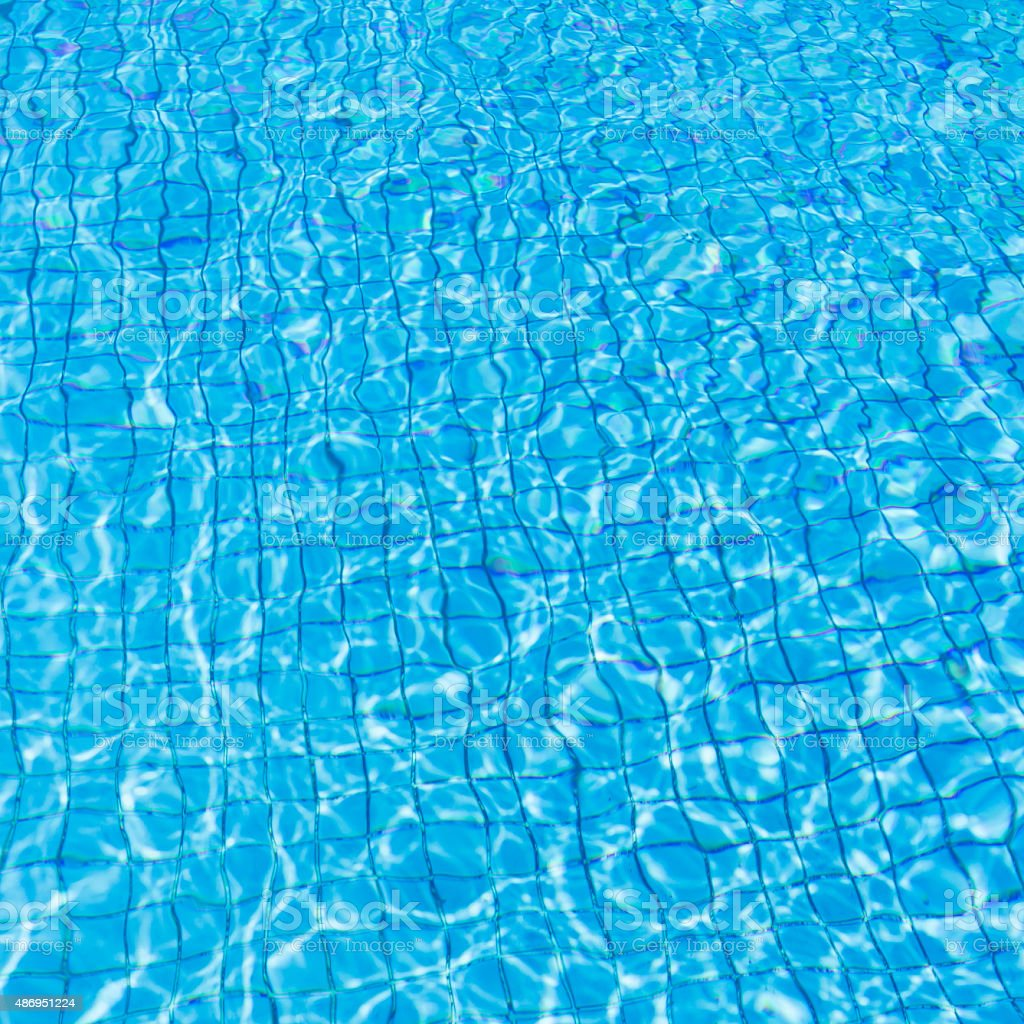water in swimming pool stock photo