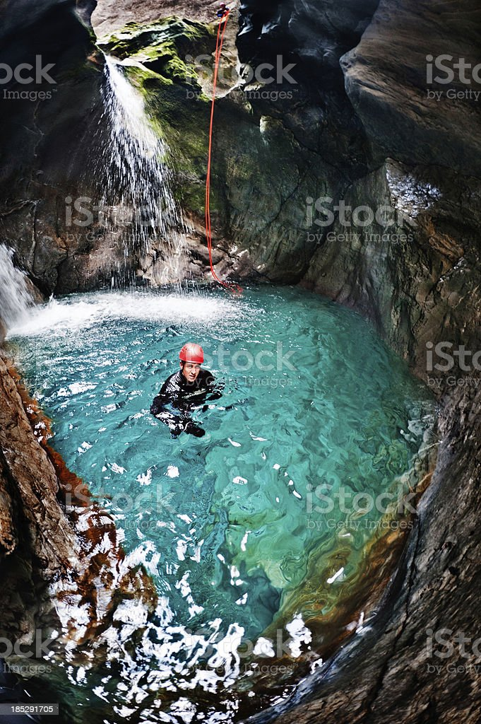 Water in the cave royalty-free stock photo