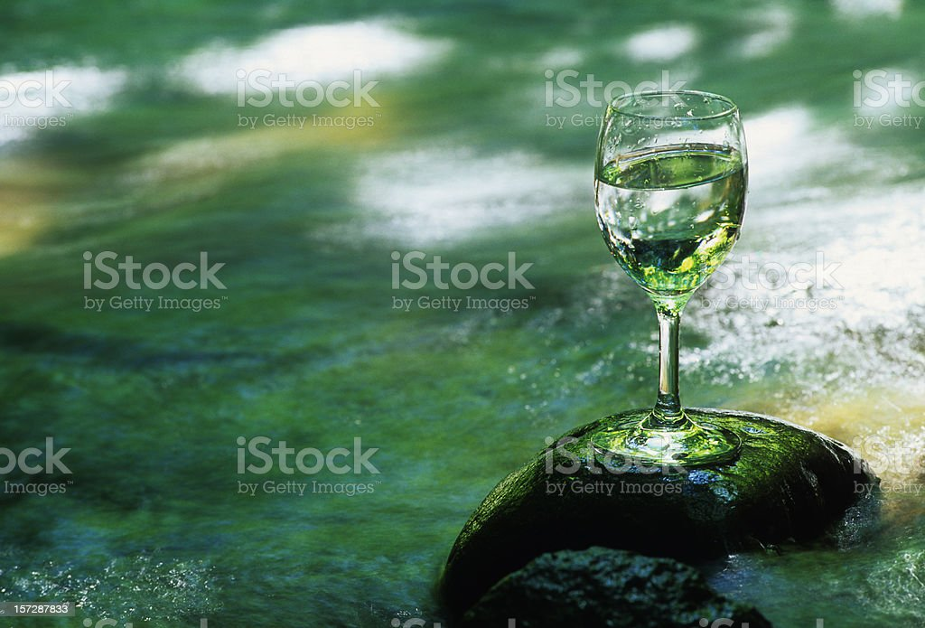 Water in the wineglass royalty-free stock photo