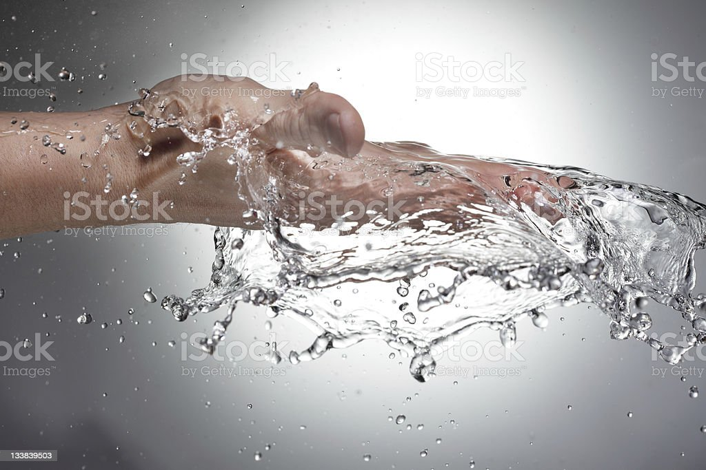 water  in woman hand royalty-free stock photo