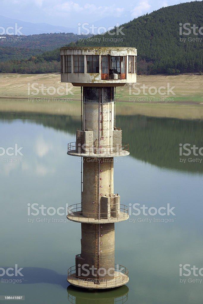 Water intake tower royalty-free stock photo