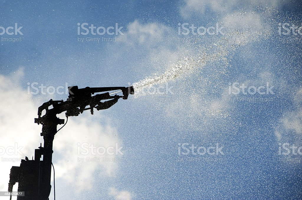 Water irrigation jet stock photo