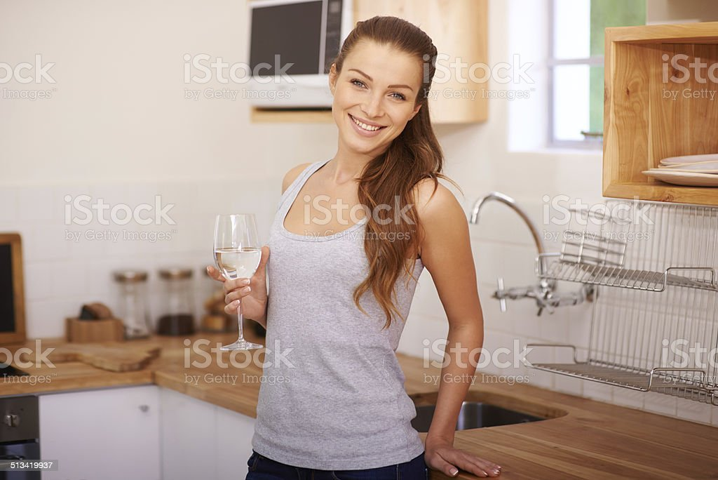 Water is the wine of life stock photo