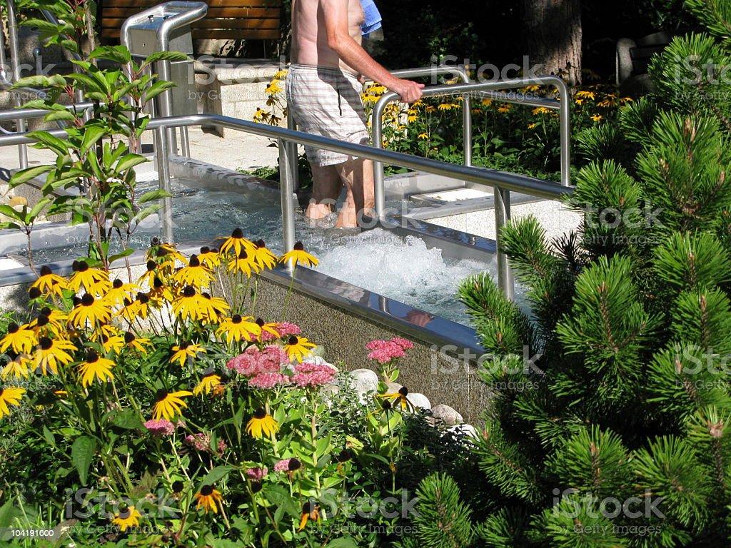 Water jogging royalty-free stock photo