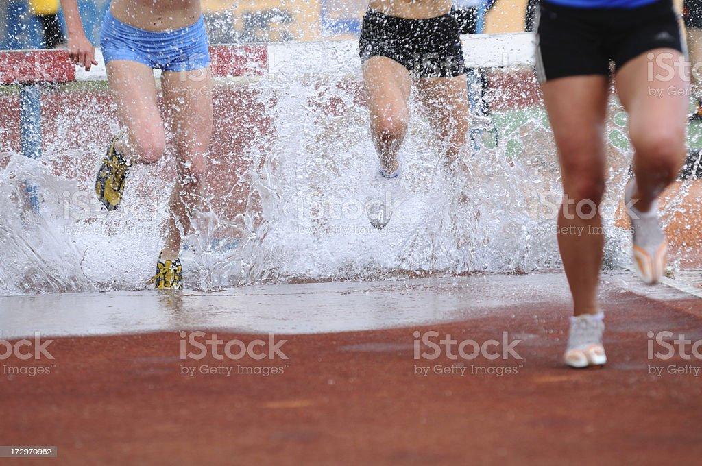 Water jump stock photo