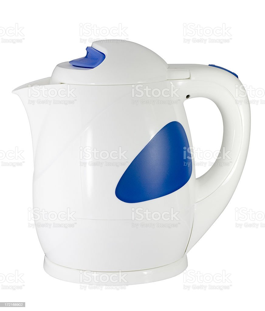 Water kettle (with clipping path), isolated on white background royalty-free stock photo