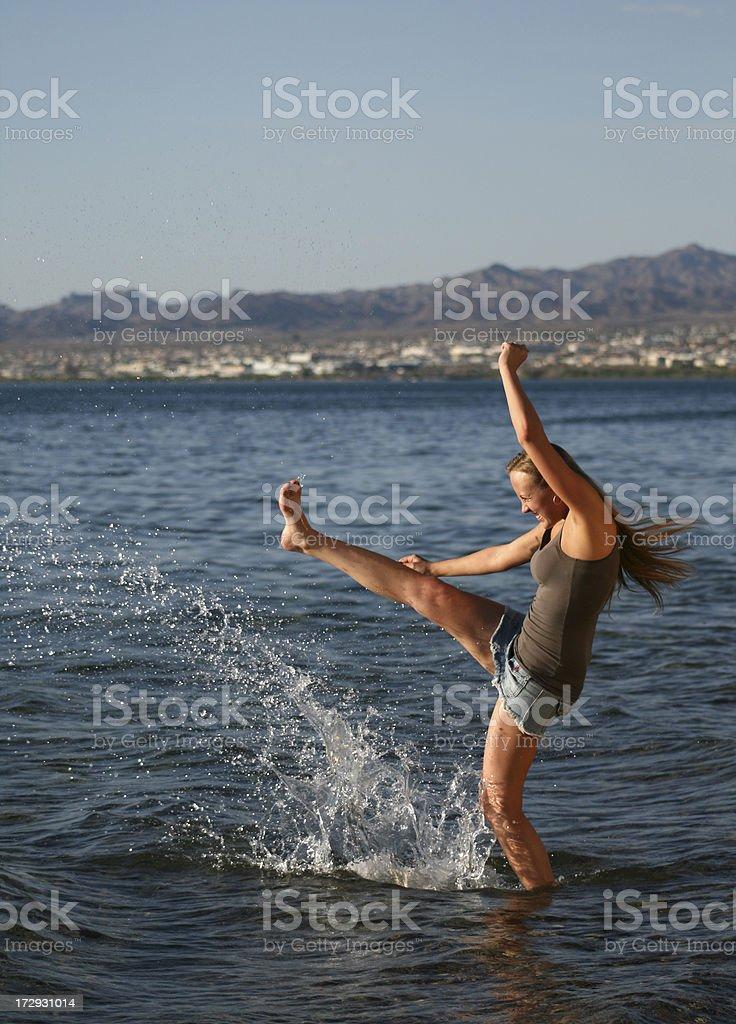 Water Kick stock photo