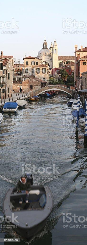 Water lane panorama royalty-free stock photo