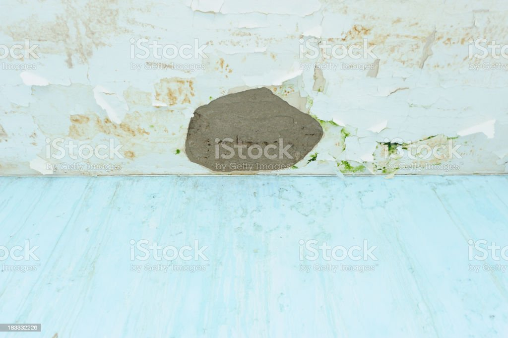 Water leak on the ceiling stock photo