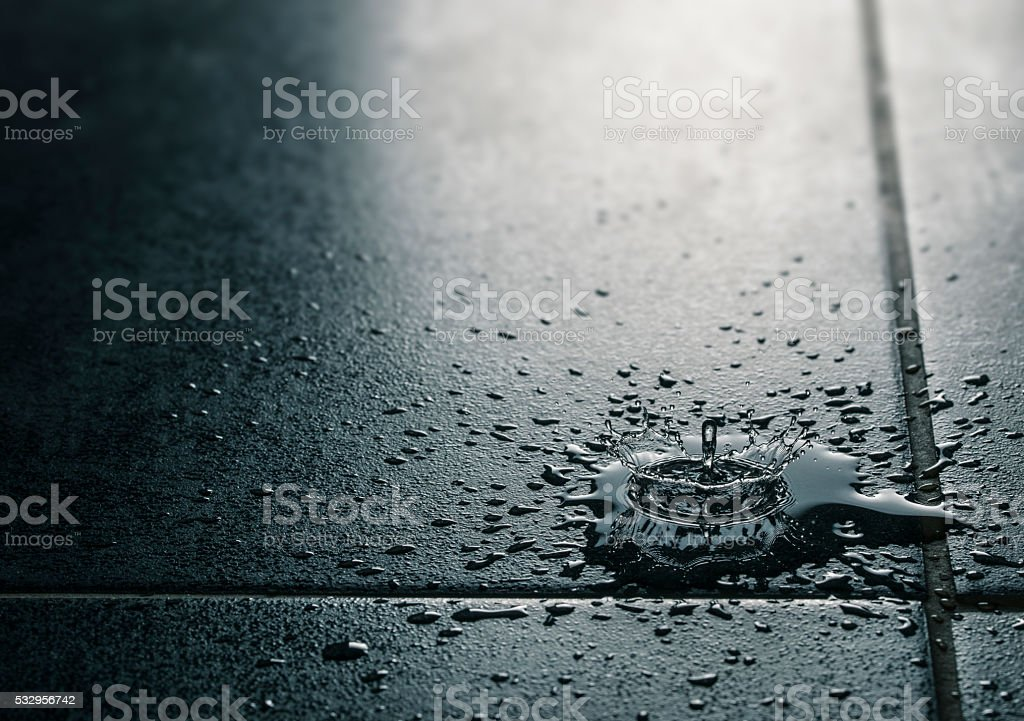 Water Leak, Waterproof Tile Flooring stock photo