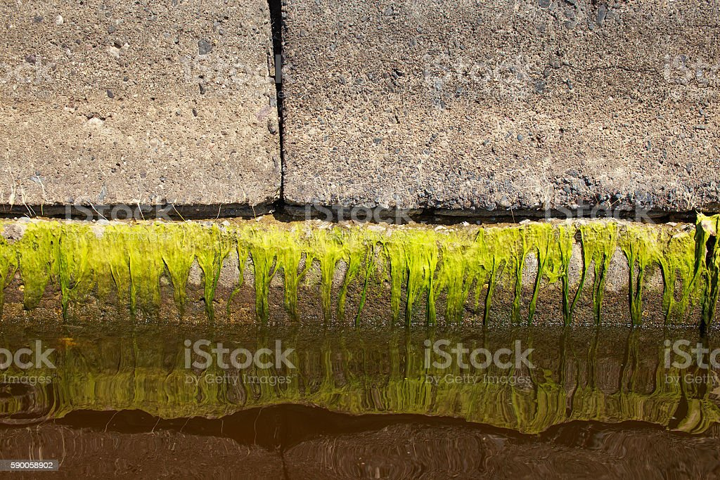 water level decline stock photo