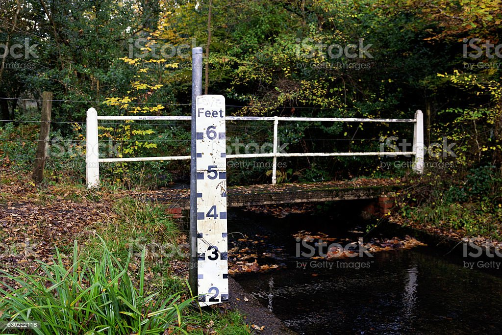 Water level measure stock photo