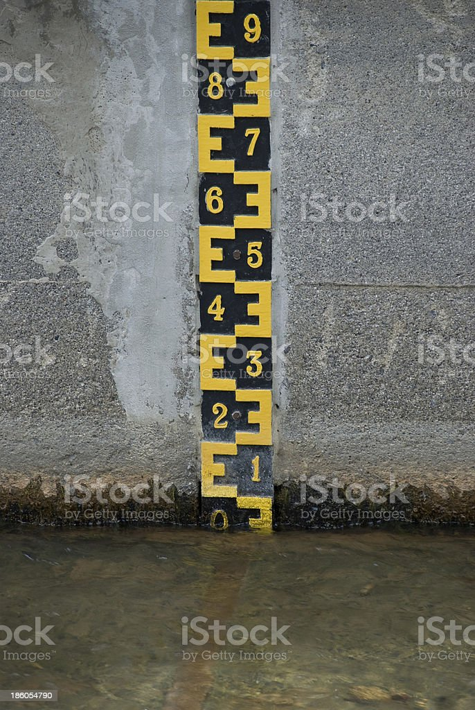 Water level. stock photo