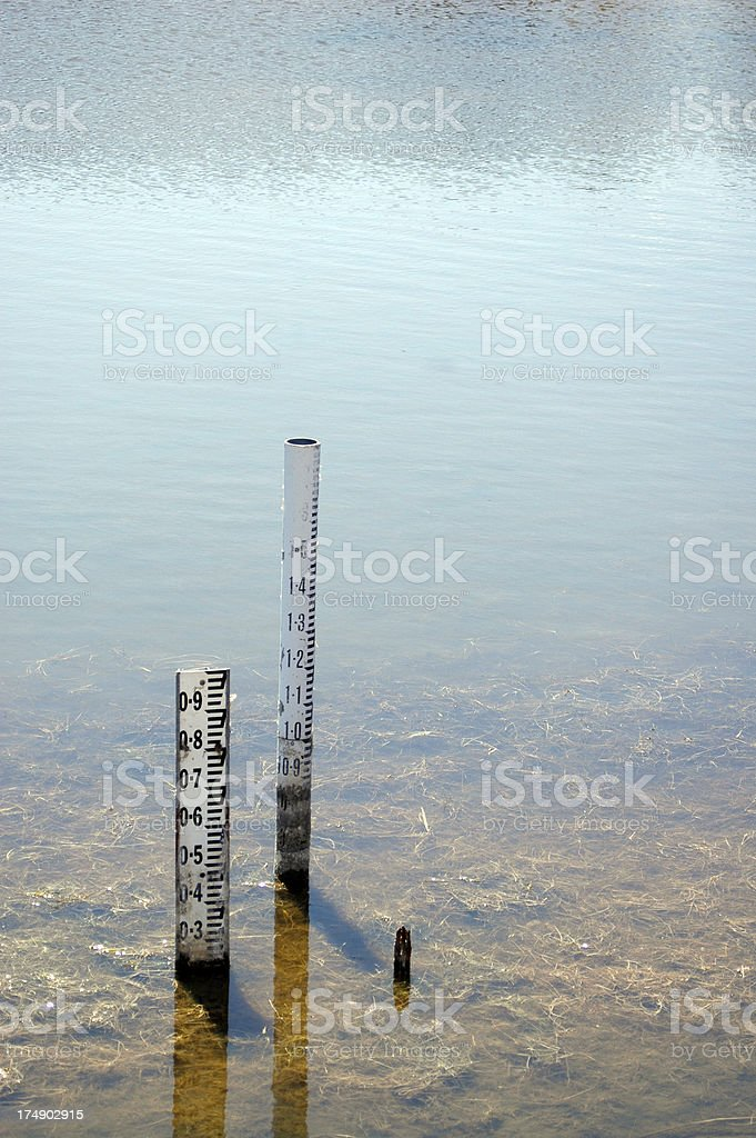 water levels royalty-free stock photo