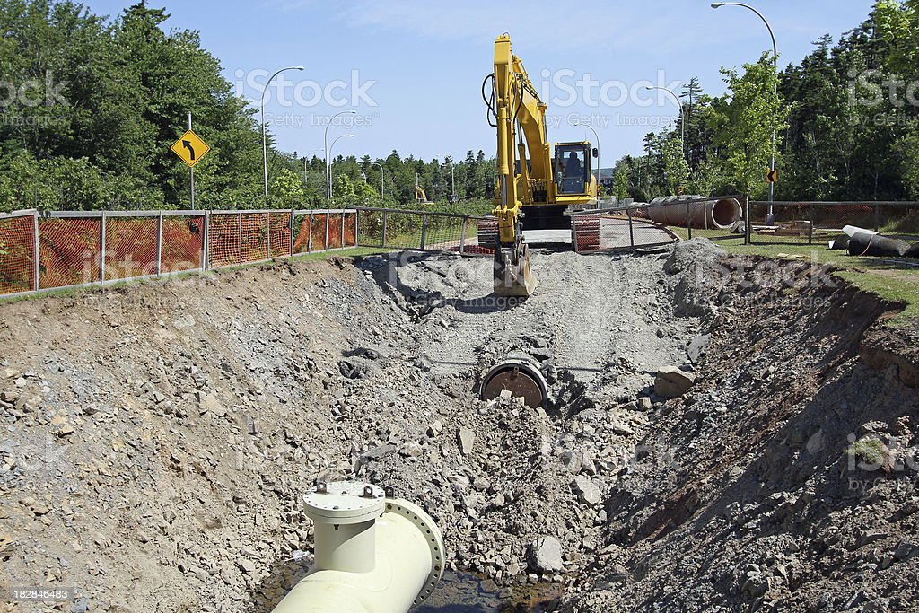 Water Line Repair stock photo