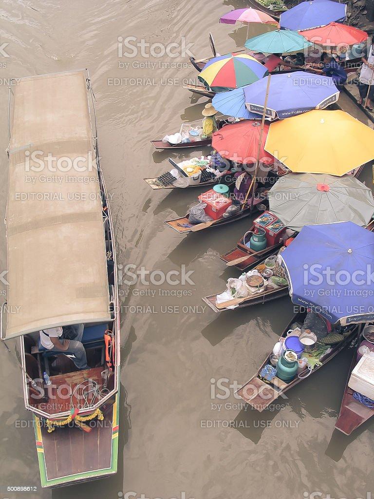 Water Market at Amphawa - Samut Songkhram, Thailand stock photo