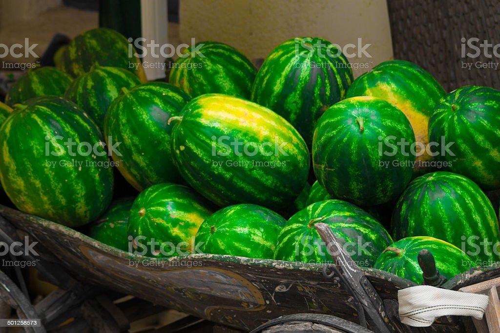 Water melon cart stock photo