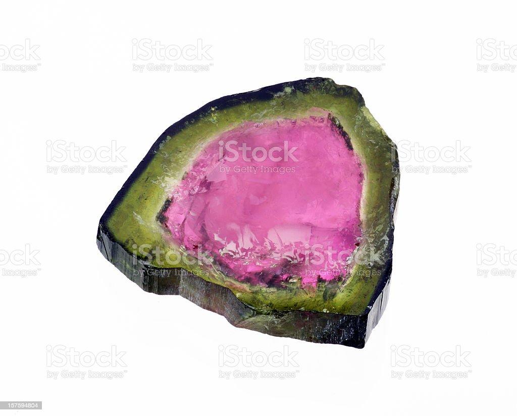 Water Melon Tourmaline stock photo