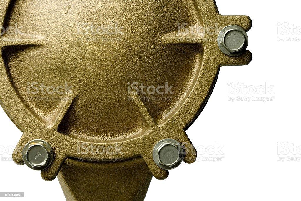 Water meter back royalty-free stock photo