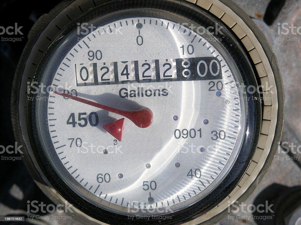 Water Meter Dial stock photo
