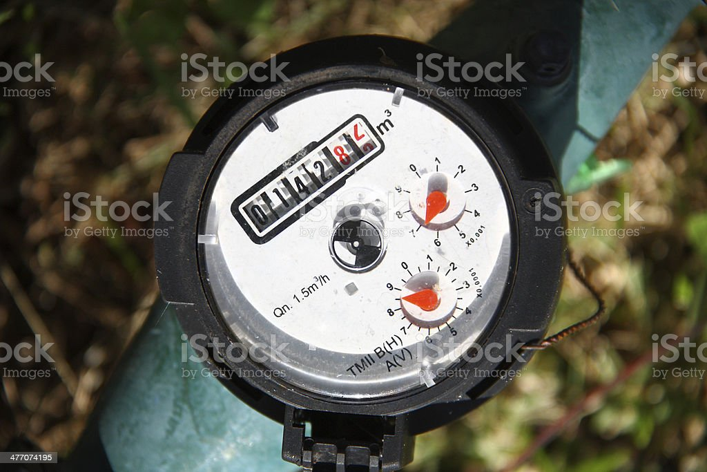 Water meter - gauge stock photo