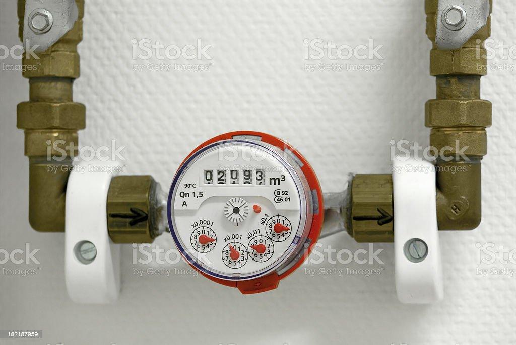 Water meter royalty-free stock photo