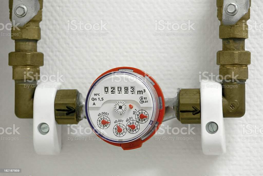 Water meter stock photo