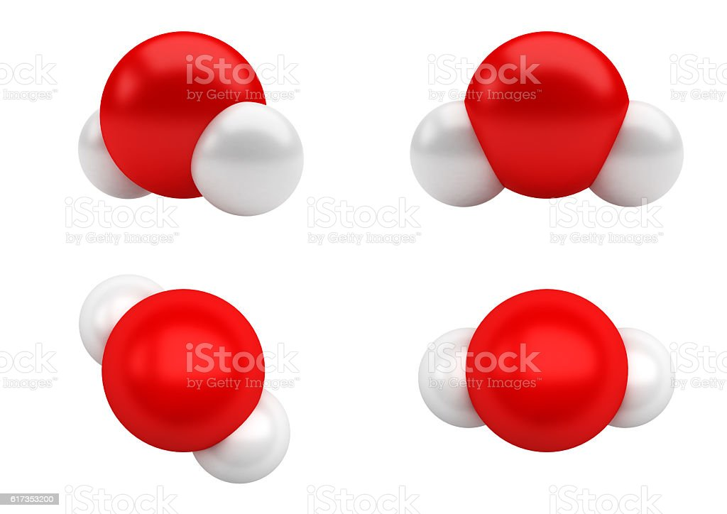 Water Molecules H2O stock photo