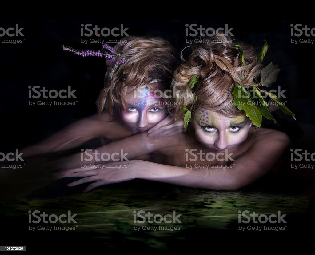 Water nymphs royalty-free stock photo