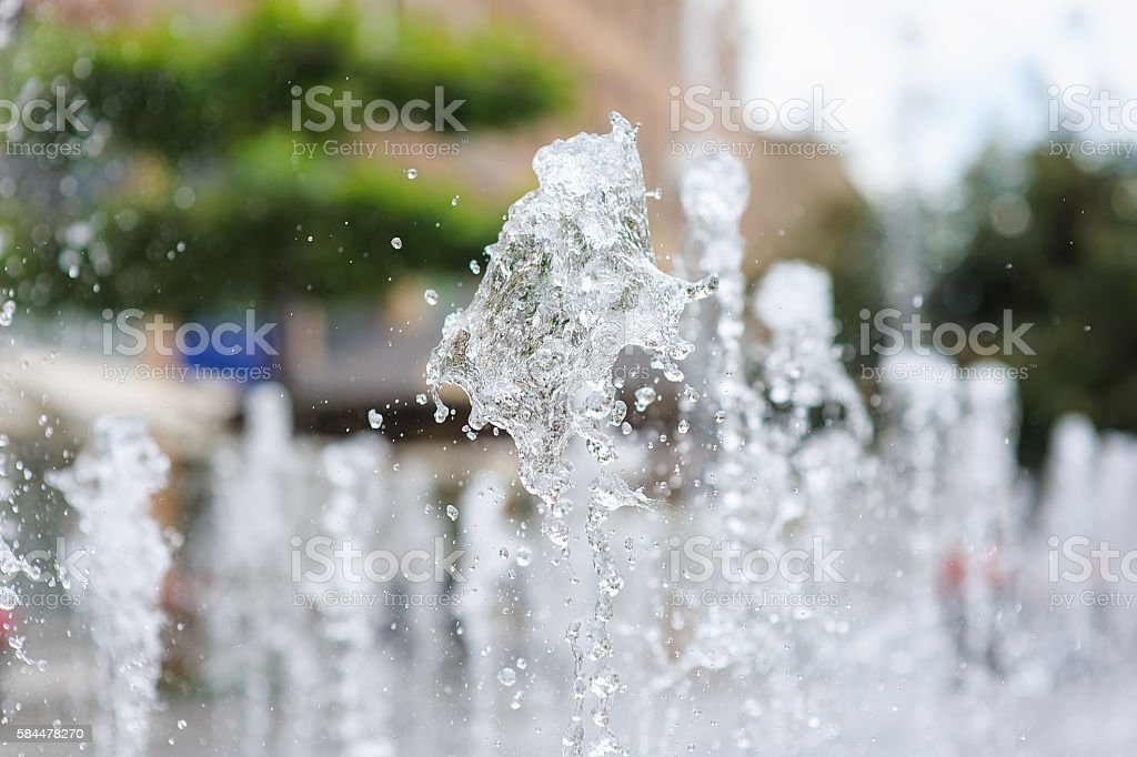 Water of a fountain stock photo