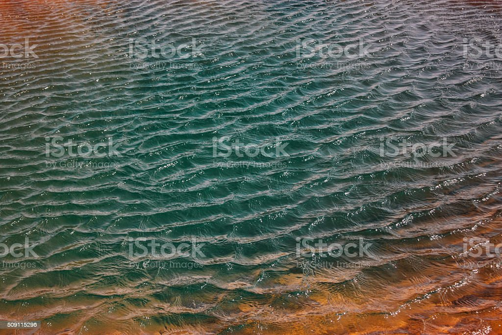 Water of geothermal spring, geyser in Iceland stock photo