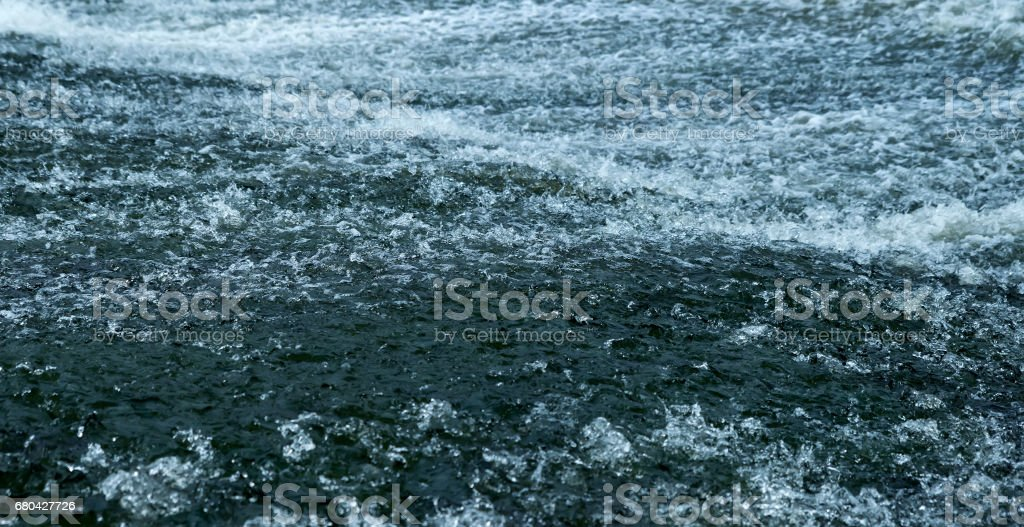 Water on a threshold of the river is rolled stock photo