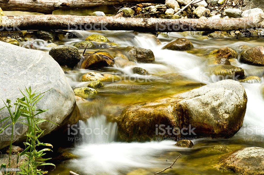 Water on Angeles National Forest stock photo