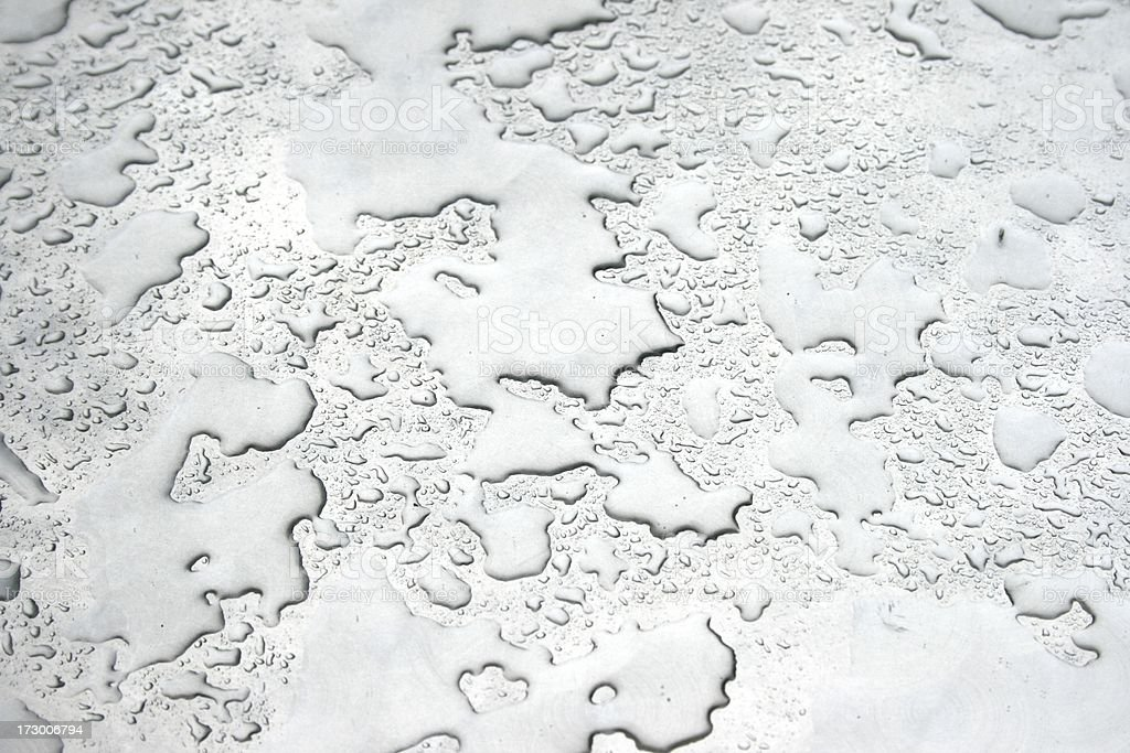 water on metal stock photo