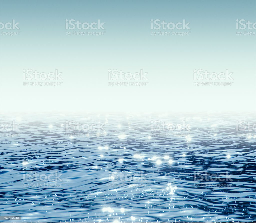 water on white background stock photo